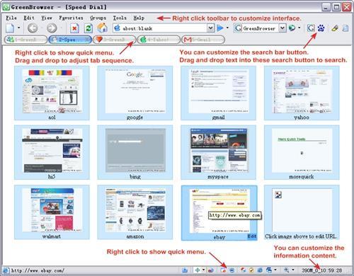 Скриншот программы GreenBrowser 6.3