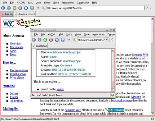 Скриншот программы Amaya 2010