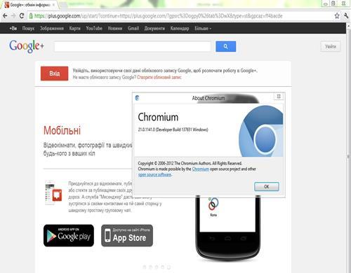 Скриншот программы Chromium 6
